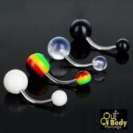 Colourful Acrylic Belly Rings