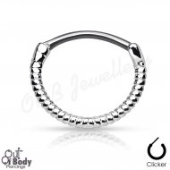 Septum Clicker Round Hinged Simple Twisted Rope Line Nose Ring