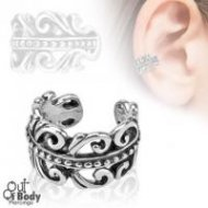 Cartilage/ Helix Ear Cuff Non Piercing W/ Carved Swirls