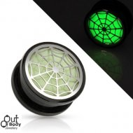 Acrylic Glow In The Dark Hollow Spider Web Threaded Tunnel
