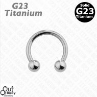 G23 Solid Titanium Septum/ Ear Horseshoe Circular Barbell