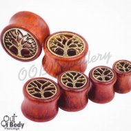 Organic Wood Tunnel W/ Antiqued Tree Of Life Inlay
