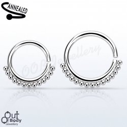 Septum Cartilage/Ear Simple Beaded Ring Annealed 316L O/S