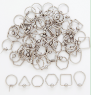 1.2mm Unique Shaped Captive Bead Ring Hoops 316L SS