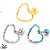 Cartilage/ Helix Barbell Heart Wrap Top