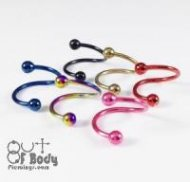 Twist Barbell W/ Colourful Titanium Plating