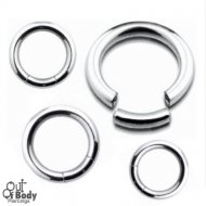 Seamless Segment Ring In Plain 316L Surgical Steel