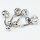 316L Surgical Steel Internally Threaded CZ Belly Ring