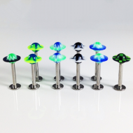 Acrylic UFO Disc Shaped Labrets