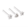 316L Surgical Steel Crystal Heart, Flower & Star Nose Studs