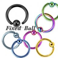 316L Steel CBR Easy Use Annealed W/ Fixed Ball In IP Colours