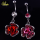 Crystal Blooming Metalic Rose Belly Ring