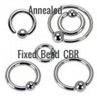 316L Steel CBR Easy Use Annealed W/ One Side Fixed Ball