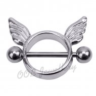 316L Surgical Steel Circular Winged Nipple Shield