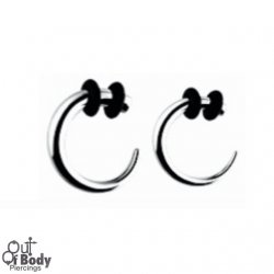 1.6mm Ear Hook Tapers W/ O-Rings 316L Surgical Steel