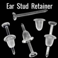 Ear Cartilage/ Lobe Retainer Posts W/ Flat Top 10PC Value Pack