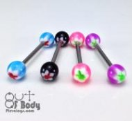 Acrylic Colourful Bunny Straight Barbells In Mixed Sizes