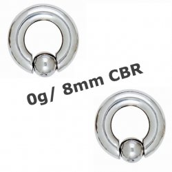 316L Surgical Steel 8mm Captive Bead Ring/ Ear Weight