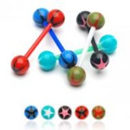 Acrylic Star Ball With Flexible PTFE Tongue Nipple Barbell