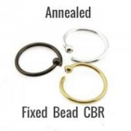 316L Steel CBR Easy Use Annealed W/ Small 2.5mm Fixed Ball