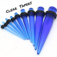 Acrylic Straight Clear Blue Taper Pairs Or Stretcher Kit