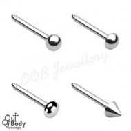 20G/ 18G Mixed Shape Top 316L Surgical Steel Nose Stud Bone