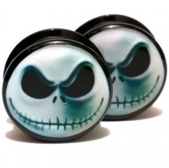 Acrylic Black Threaded Tunnel W/ Nightmare Before Christmas Logo