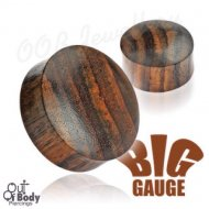 Organic Brown Sono Wood Solid Saddle Fit Plug
