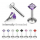 1.2mm/16G Prong Set Square CZ Internally Threaded Labret