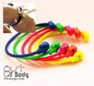 Colourful Neon Skull Bangles