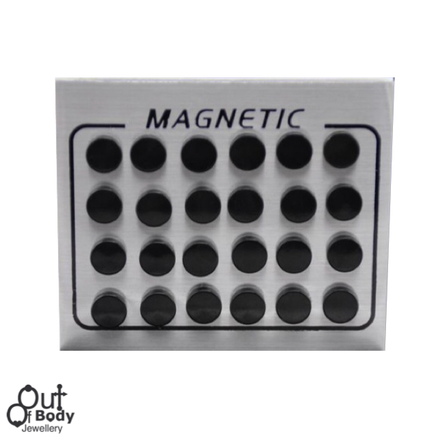 Fake Plug Magnetic Pairs Of Black Ear Studs Non Piercing