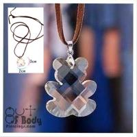 Teddy Bear Faceted Acrylic Necklace