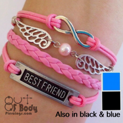 Multi Layer BF, Angel, Pearl & Infinity Wristband