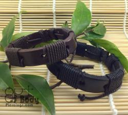 Black or Brown Leather Wristbands