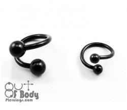 Black Titanium Anodised Twist Mixed Size W/ Ball