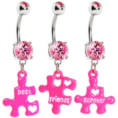 Best Friends Forever 3 Piece Puzzle Set Belly Ring