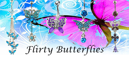 Butterfly Belly Ring Range